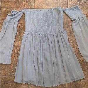 Tobi Olive Green Off the Shoulder dress